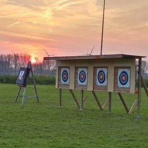 Oefenterrein handboogvereniging Hunterclub aan de Elskensweg 15 in Oosterhout